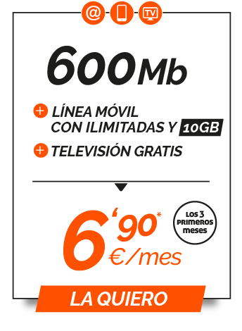Promo 600Mb + Ilimitada 10GB