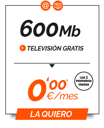 Promo 600Mb + TV gratis