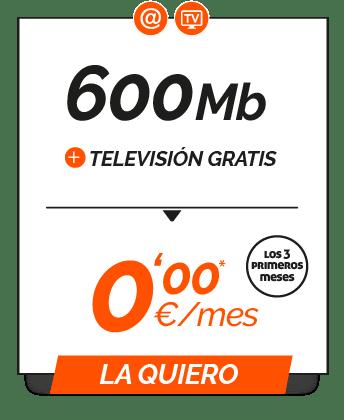 Promo 600Mb + TV gratis